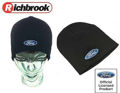 Richbrook Genuine Ford Logo Black Unisex Car Racing Sport Show Beanie Hat