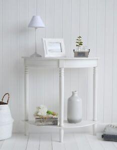 Prime Details About Colonial White Half Moon Small Hallway Console Sofa Table Spiritservingveterans Wood Chair Design Ideas Spiritservingveteransorg