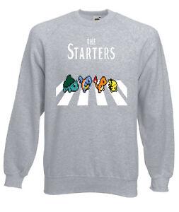 Cooler-Herren-Pullover-Sweater-034-The-Starters-034-Pokemon-Pokeball-Versus-Fighting