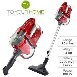 dihl cordless 130w handheld vacuum cleaner rechargeable 21 6v stick vac bagless ebay. Black Bedroom Furniture Sets. Home Design Ideas