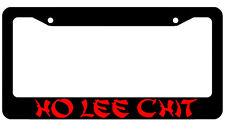 HO LEE CHIT funny jdm Black Metal License Plate Frame Screw Caps