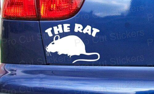 The RAT Funny Custom Car Van Window Bumper Stickers Decal RAT Scene Rust Scrap
