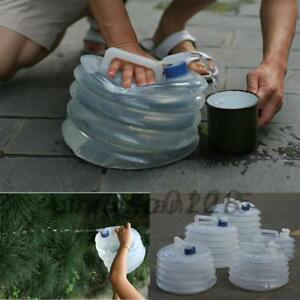 5L 10L 15L Water Carrier Container Foldable Collapsible With Tap Camping Bottle