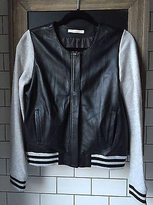 Ladies New Black Long Sleeves Hooded Leather Look Biker Jacket Coat Bomber