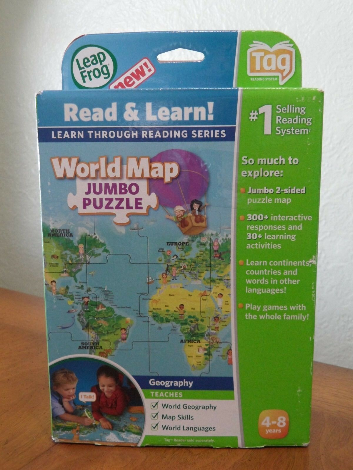 Leapfrog Leapreader Interactive World Map Puzzle Works With Tag