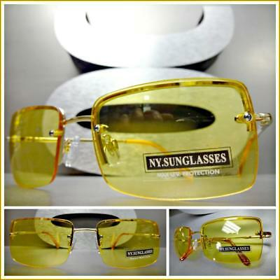 UPSCALE LUXURY Exotic Contemporary Modern Style SUN GLASSES Gold Fashion Frame