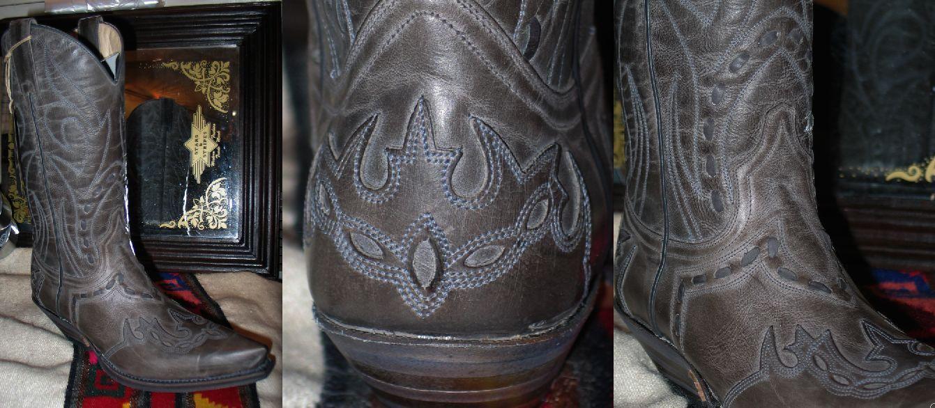 9708 Bottes Sendra bottes western Couleur gris noir Superbe promo