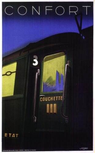 Confort ETAT Train Room Art Interior Decorative. 4035 Travel Railway POSTER