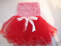 Toddler Valentine's Day Tutu & Crochet Fuzzy Top Valentines Day Outfit 2-3 Yrs
