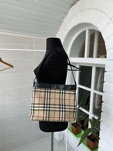 Women-039-s-Burberry-London-Beige-Plaid-Nova-Check-Shoulder-Hand-Bag