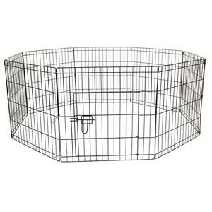 AVC-Dog-Puppy-Cat-Foldable-Playpen-Enclosure-Indoor-Outdoor-Cage-Small-61cm