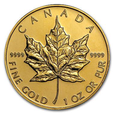 Random Year 1 oz Gold Canadian Maple Leaf Coin