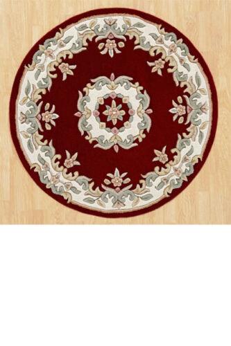 Aubusson Diseño Alfombras De Alta Calidad Super gruesa de mano con pelo insertado Alfombra De Lana 100/% 25/% De