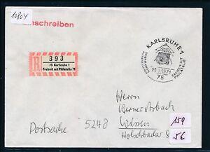 10804) Spécial R-ticket De Karlsruhe Loisirs Avec Philatélie, Postsache Sst 20.6.71-afficher Le Titre D'origine ChronoméTrage Ponctuel