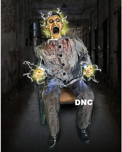 Details about HALLOWEEN ANIMATRONIC ELECTRIC CHAIR DEATH ROW HAUNTED HOUSE  PROP =FREE STEP PAD