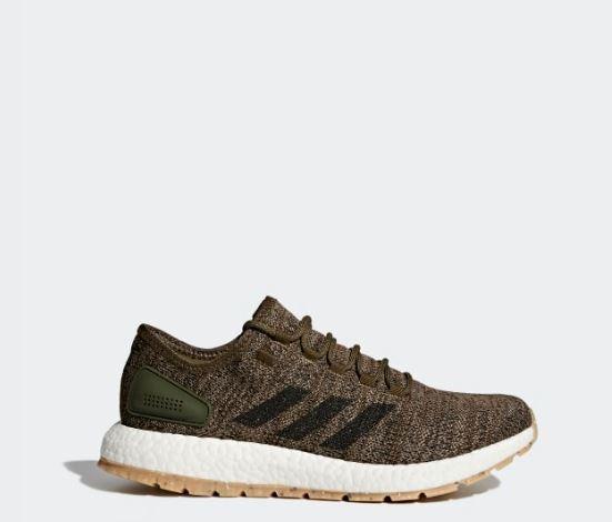 New Men's ADIDAS PureBOOST All Terrain  S80784 Brown Green Running Sneaker 7 1 2