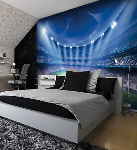 Ordinaire Details About Football Stadium Pitch Sports Wall Mural Photo Wallpaper Kids  Bedroom Decoration