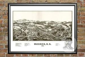 Old-Map-of-Winona-MN-from-1867-Vintage-Minnesota-Art-Historic-Decor