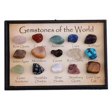 15 pièces pierres précieuses du monde Minéraux Specimen Home Decor cadeau