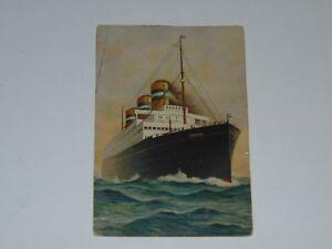 SS-Statendam-1917-one-2-vintage-photo-postcard-RARE-Holland-America-WW1