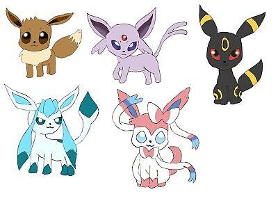 Anime Pokemon Eevee stickers