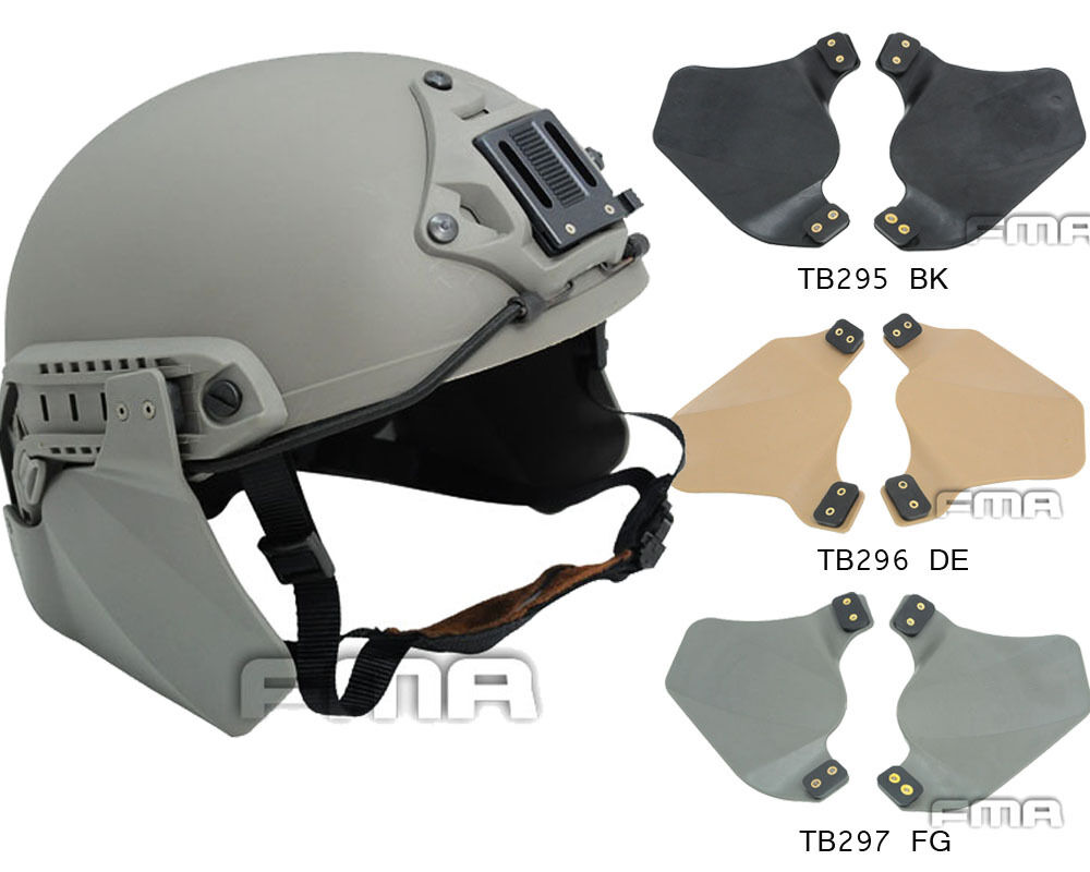 FMA Emerson helmet Side Protective Face Cover Survive Ear Protection Rail Kit