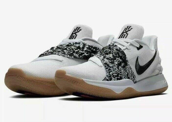 NEW Sz 13.5 Nike Kyrie 4 Irving Low Men's AO8979-100 White Black Gum Basketball