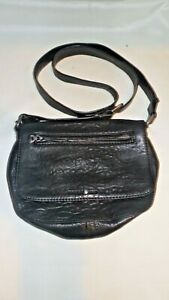 Treasure-amp-Bond-Black-Leather-Flap-Cross-Body-Shoulder-Handbag