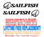 """PAIR OF 4.5/""""X 46/"""" SAILFISH BOAT HULL DECALS MARINE GRADE YOUR COLOR CHOICE"""
