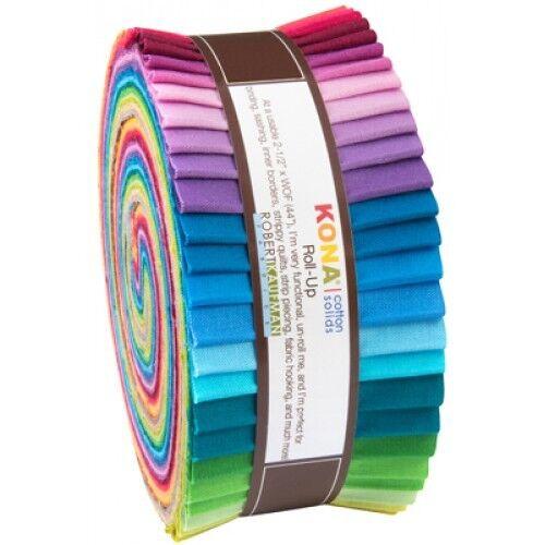 "LARGE Jelly Roll 40 strips 2.5/"" x 42/"" Robert Kaufman New Kona Colours RU341-40"