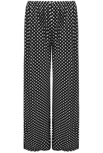 Bottes Femme Noires Pois Pointillée évasée Pantalon Taille Élastique Long Palazzo Pantalon