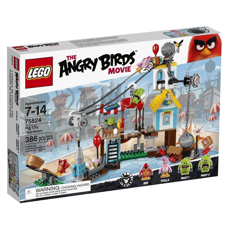 New   75824 LEGO Pig City Teardown from The Angry Birds Movie Age 7-14 / 386pcs