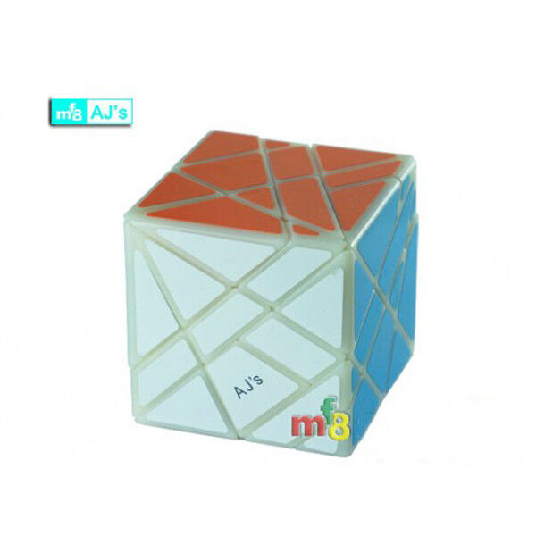 Rare MF8 Duo Axis Cube Hexahedron 62mm Series Magic Cube Twist Puzzle Ivory