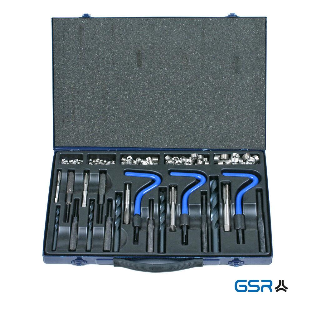 GSR Gewindereparatur Sortiment Profi M6 - M14, Zündkerzengewinde, 114 tlg., HSS
