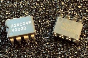 30-x-X24C04P-Xicor-EEPROM-DIP-8