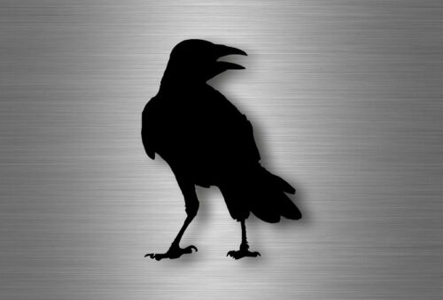 Sticker car motorrad decoration ravens raven black silhouette