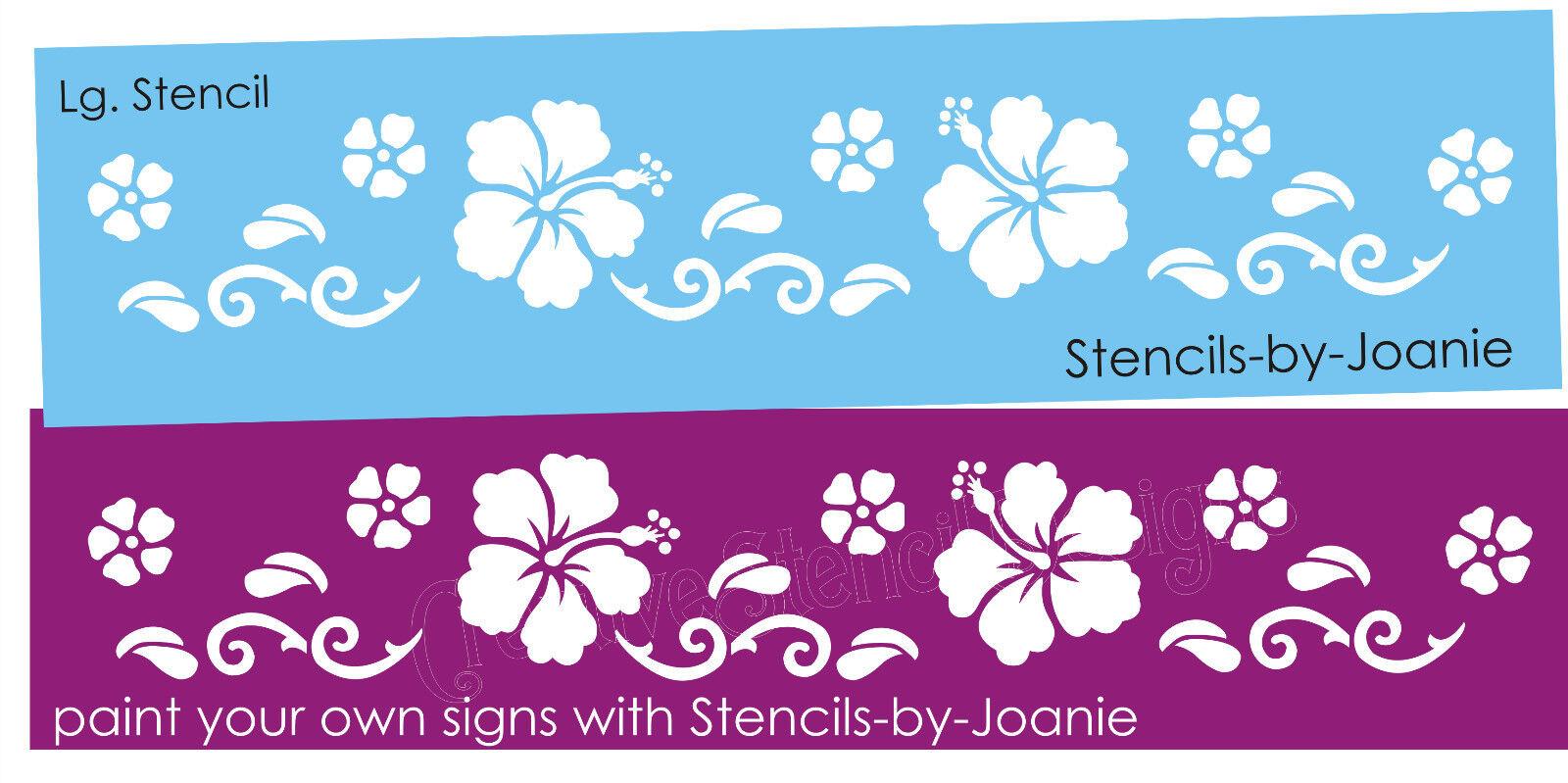 Joanie stencil aloha hibiscus hawaii flower tropical border wall art joanie stencil aloha hibiscus hawaii flower tropical border wall art home sign ebay izmirmasajfo