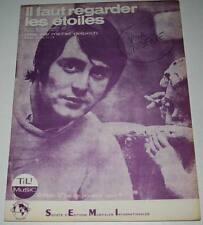 Partition vintage sheet music MICHEL DELPECH Il Faut Regarder les Etoiles * 60's