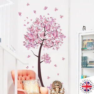 Image Is Loading Cherry Blossom Tree Wall Sticker Vinyl Art Nursery
