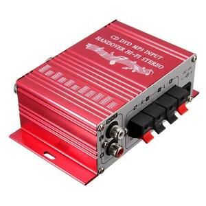 Hi-Fi 2 Channel Stereo Subwoofer Audio Amplifier Amp for Car Motorcycle Boat