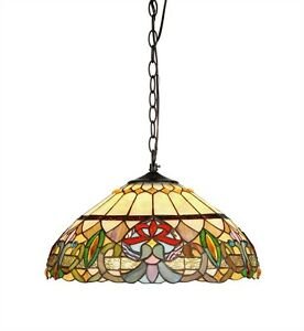 tiffany style hanging stained glass ceiling pendant light lamp 18 034. Black Bedroom Furniture Sets. Home Design Ideas