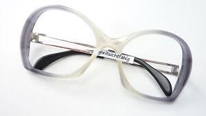 Gelernt 70er Jahre Fassung Brille Gestell Damen Boho Hippie Grau Verlaufend Xl Size M Kann Wiederholt Umgeformt Werden. Brillenfassungen Damen-accessoires