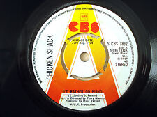 "Chicken Shack I'd Rather Go Blind PROMO A1 B1 UK 7"" S CBS 1832 1974 EX"
