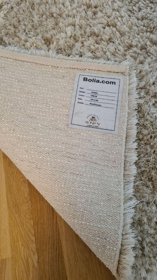 Gulvtæppe, 65 % Polyester / 35 % New Zealandsk u, b: 140 l: 200