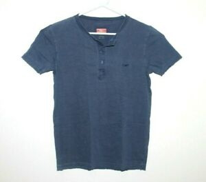 RM-Williams-Slim-Fit-Men-039-s-Shirt-Tee-Size-Small-Button-Neck