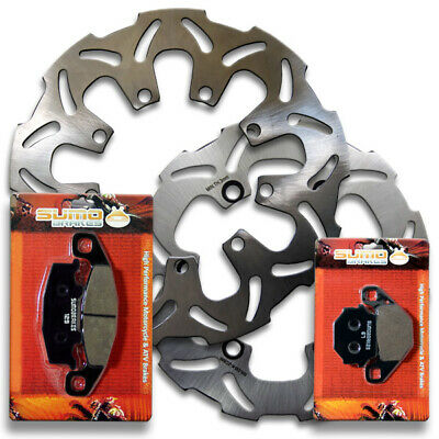 Yamaha Front // YZF R1 Street Bike Rear High Performance Stainless Steel Brake Disc Rotor Sumo 2002-2003 Pads Combo for YZF 600 R R6 1999-2002