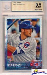 2015 Topps #616 Kris Bryant ROOKIE BGS 9.5 GEM MINT Chicago Cubs!