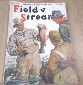 Field & Stream Magazine Juillet 1936 Hunting & Fishing Articles >-afficher Le Titre D'origine