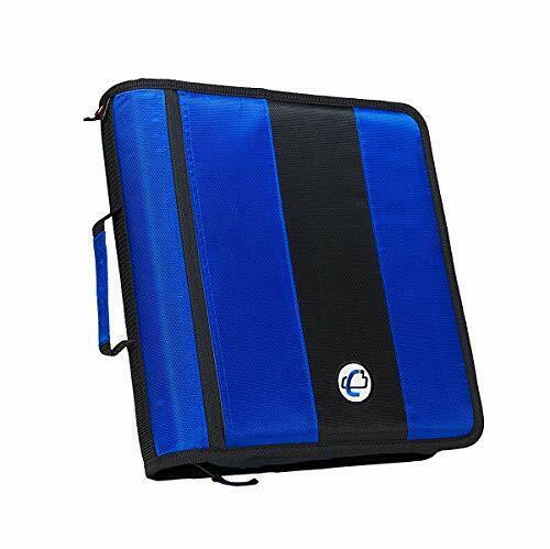 Case-it 2-Inch Ring Zipper Binder Blue D-251-BLU