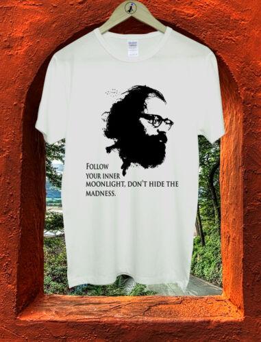 Allen Ginsberg Follow Your Inner Moonlight Quote Men T Shirt Tshirt Tee M188